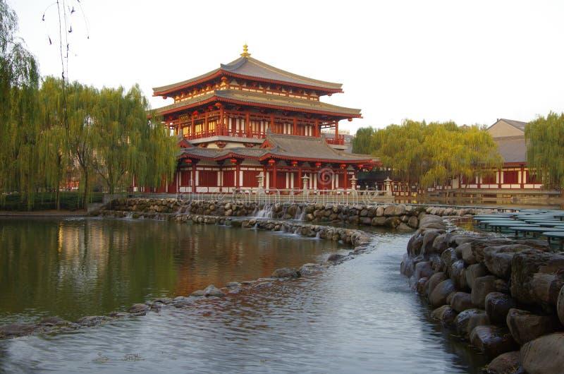 Xian,China. Night scenes of Tang Paradise in Xi'an(Xian),China royalty free stock photo