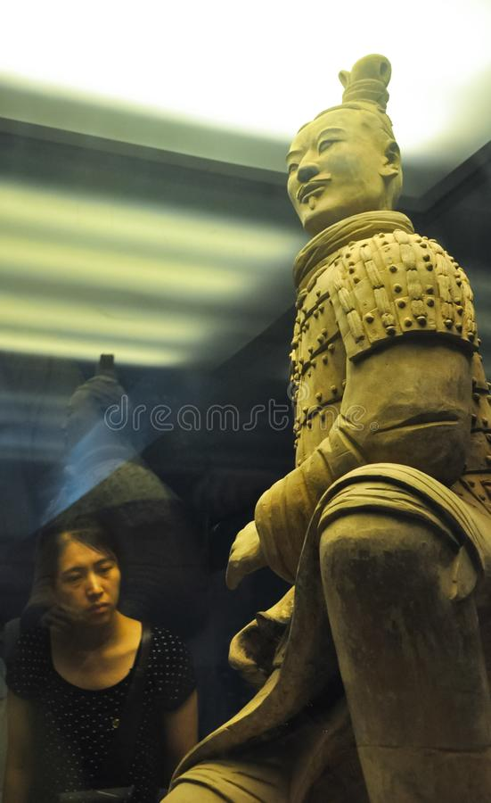 Archer of the terracotta army. Terracotta Army royalty free stock photography