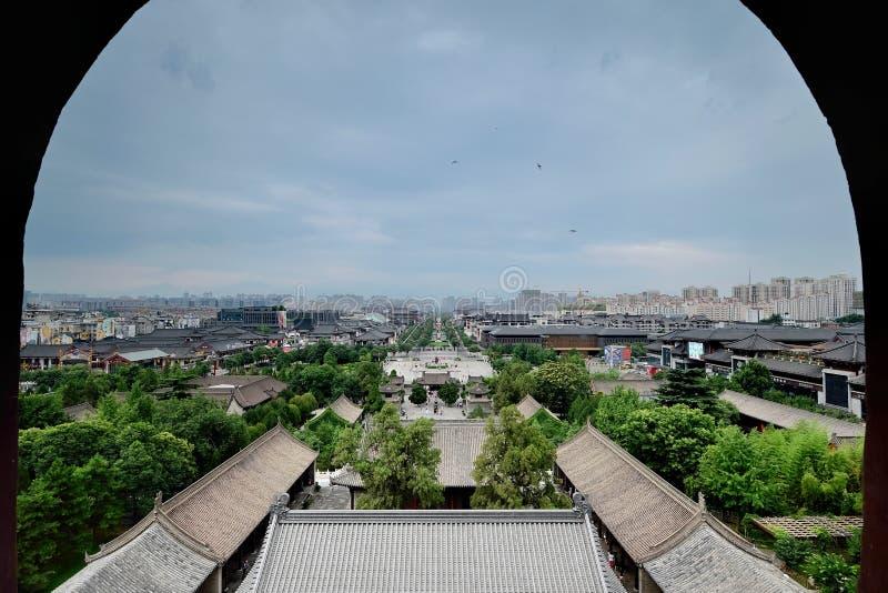 Xian China-See Xi ' uma cidade no pagode selvagem grande do ganso foto de stock royalty free