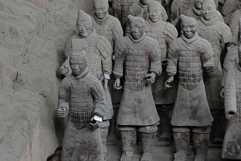 Xian China-Terracotta Army Soldiers Horses fotos de stock