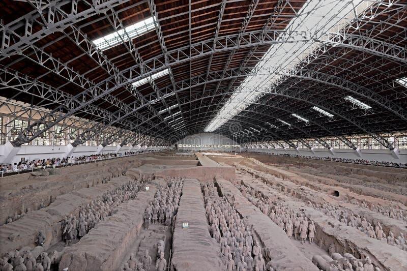 Xian China-Terracotta Army Soldiers Horses nenhum 1 poço imagem de stock royalty free