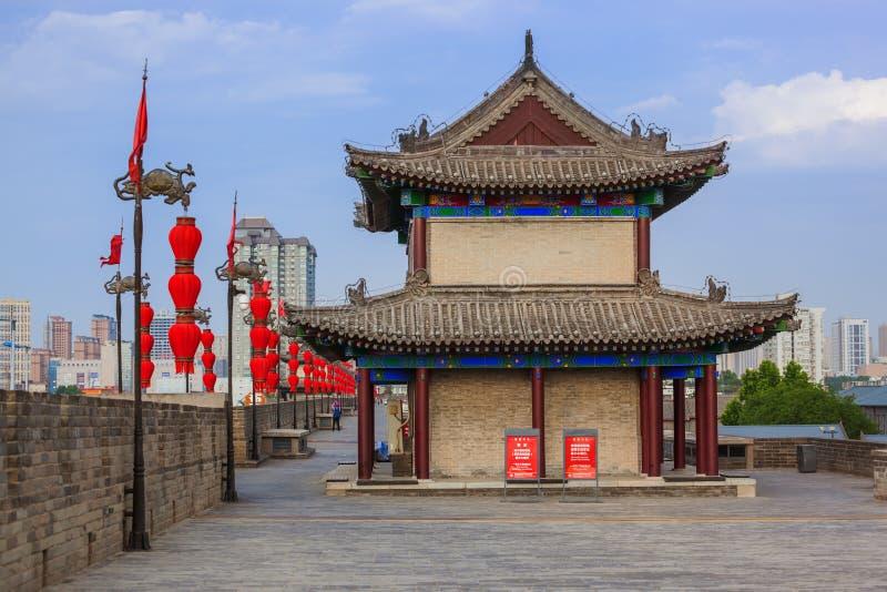 Xian, Chine - 18 mai 2018 : Mur nord de la vieille ville photo stock