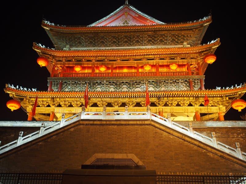 Xian, Cina il campanile fotografia stock libera da diritti