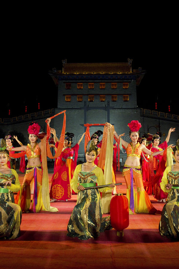Xian City, China. Traditional ceremony to enter City of Xian, China royalty free stock photos