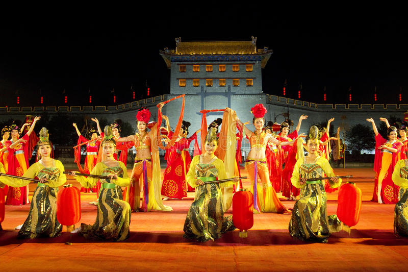 Xian City, China. Traditional ceremony to enter City of Xian, China royalty free stock photography