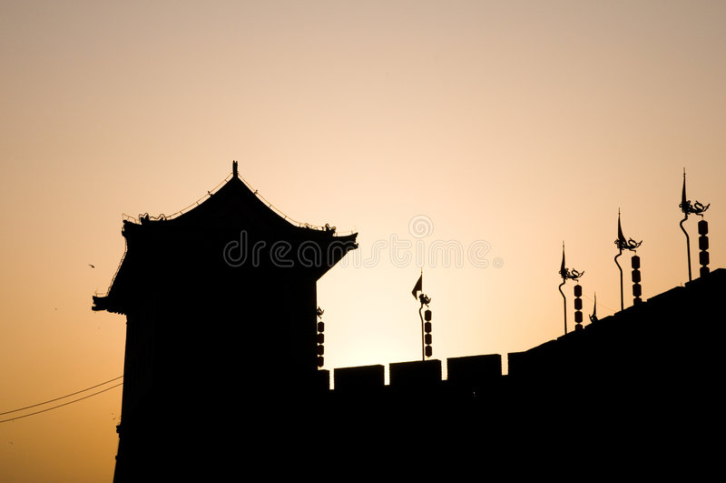 Xian City Wall. In Xian of China royalty free stock photography