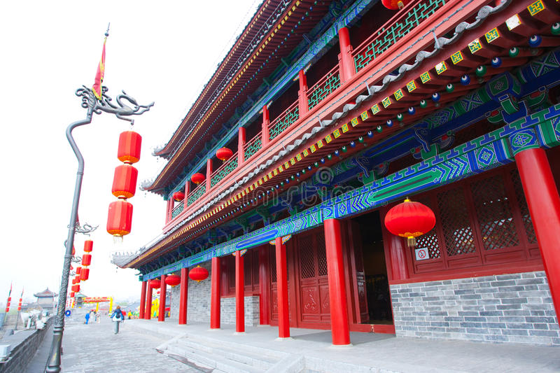 Xian City Wall Building. Xian, China. Ancient Xian City Wall Building. Xian, China royalty free stock photo