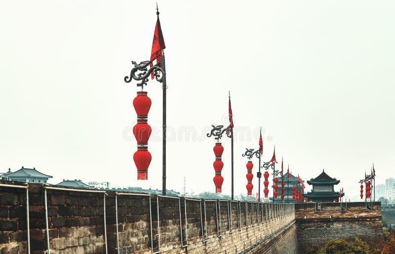 Download Xian City Wall, Cina immagine stock. Immagine di china - 117977939