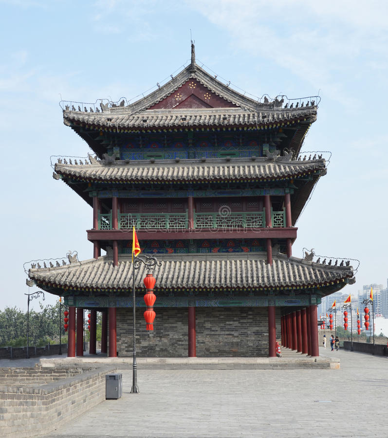 Xian City Wall Watchtower photographie stock