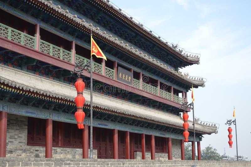Xian City Wall Watchtower images libres de droits