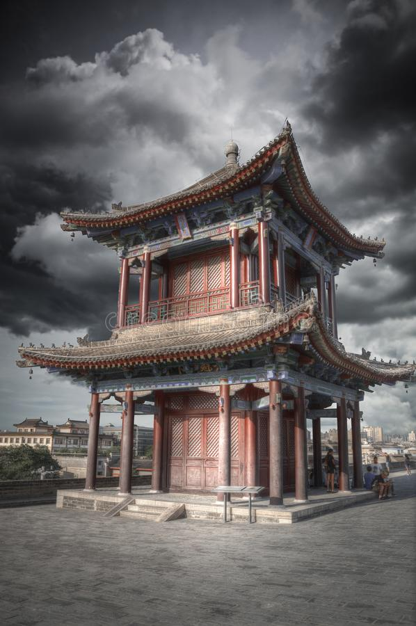 Xian city wall. The largest monument of Chinese architecture royalty free stock images