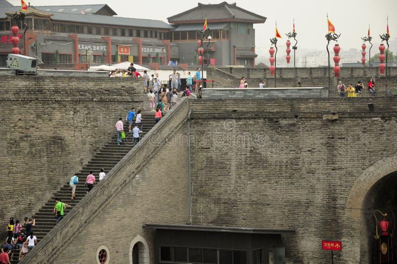 Xian City Wall Yongning Gate fotos de stock royalty free