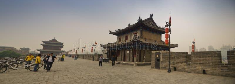 Xian City Walls royalty free stock photos