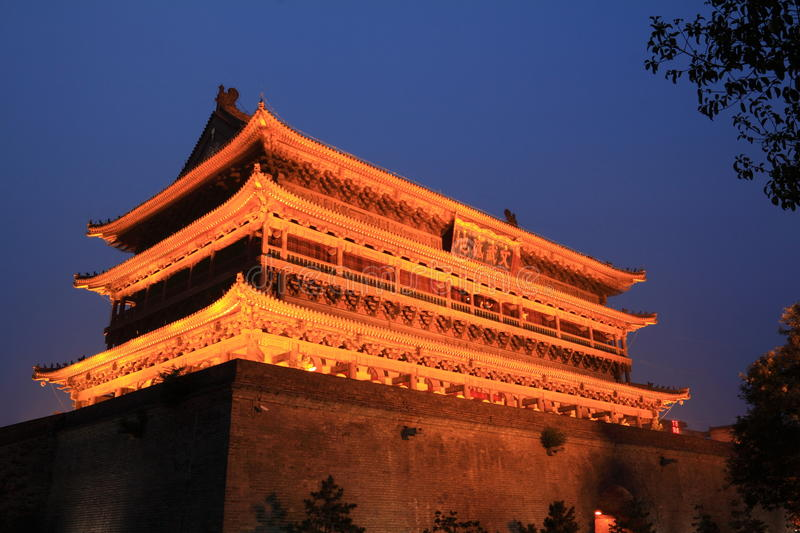 Download Xian drum tower stock photo. Image of prosperity, tower - 25923510