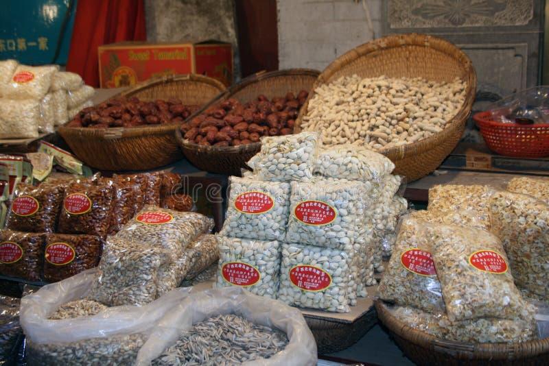 Xian jedzenia Uliczny rynek zdjęcia royalty free