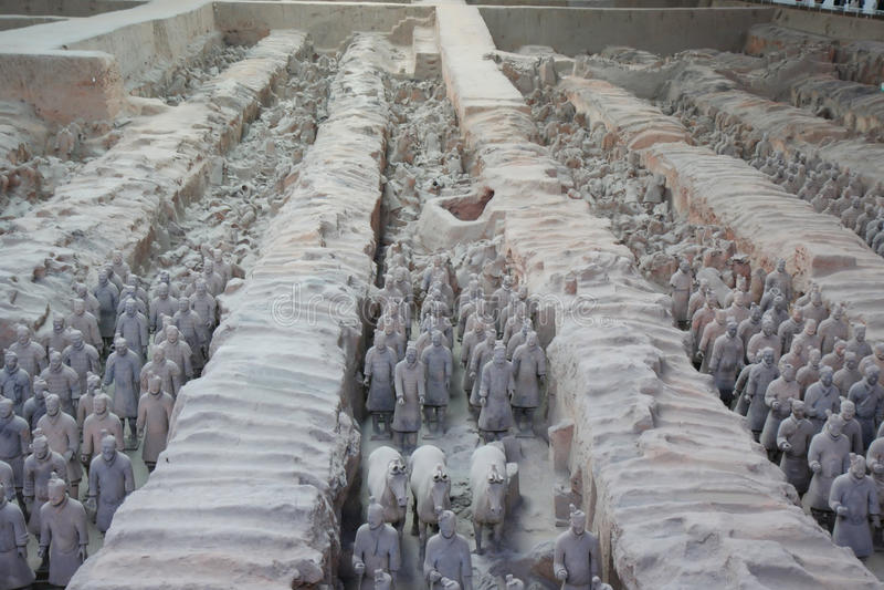 Xian-Soldaten stockbilder
