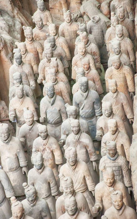 Xian Terracotta Warriors China dig site royalty free stock photos