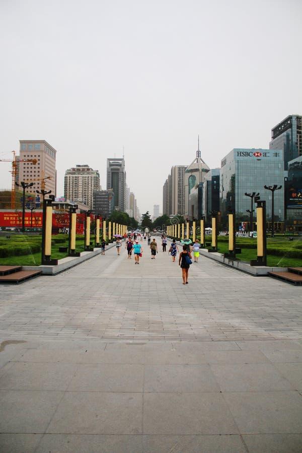 Xian ulicy widok fotografia royalty free