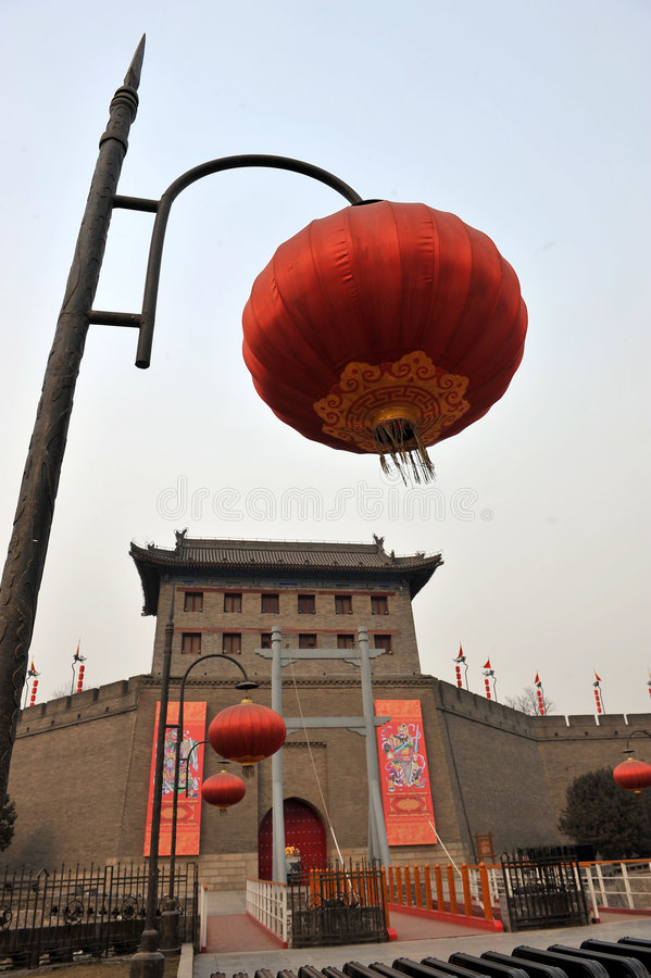 Download Xian(xi'an) city wall stock image. Image of famous, fortification - 4266397
