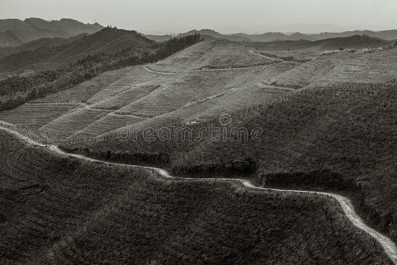 The xiang lu ling mountain stock images