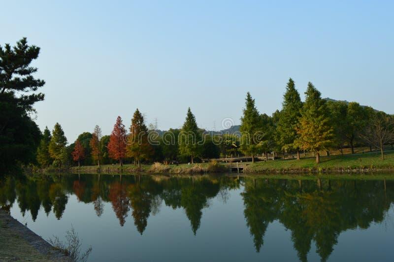 XiangHu Lake. Xianghu is known as the `sister Lake` of West Lake for its beautiful scenery. It is a lake located in Xiaoshan District, Hangzhou, Zhejiang, China stock photography