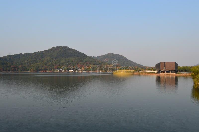 XiangHu Lake. Xianghu is known as the `sister Lake` of West Lake for its beautiful scenery. It is a lake located in Xiaoshan District, Hangzhou, Zhejiang, China stock photo