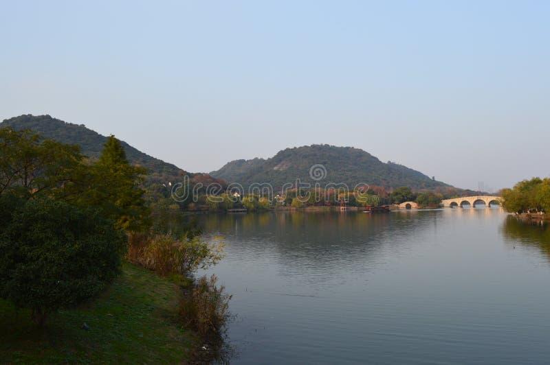 XiangHu Lake. Xianghu is known as the `sister Lake` of West Lake for its beautiful scenery. It is a lake located in Xiaoshan District, Hangzhou, Zhejiang, China royalty free stock image