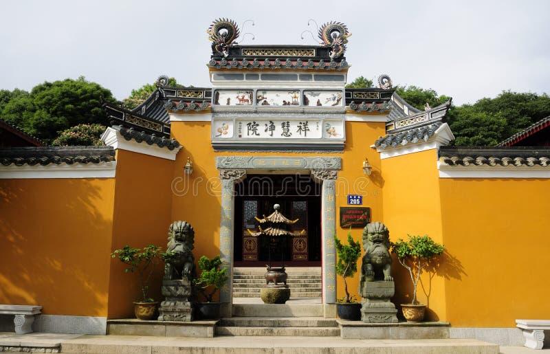 Xianghui寺庙Putuoshan中国 图库摄影