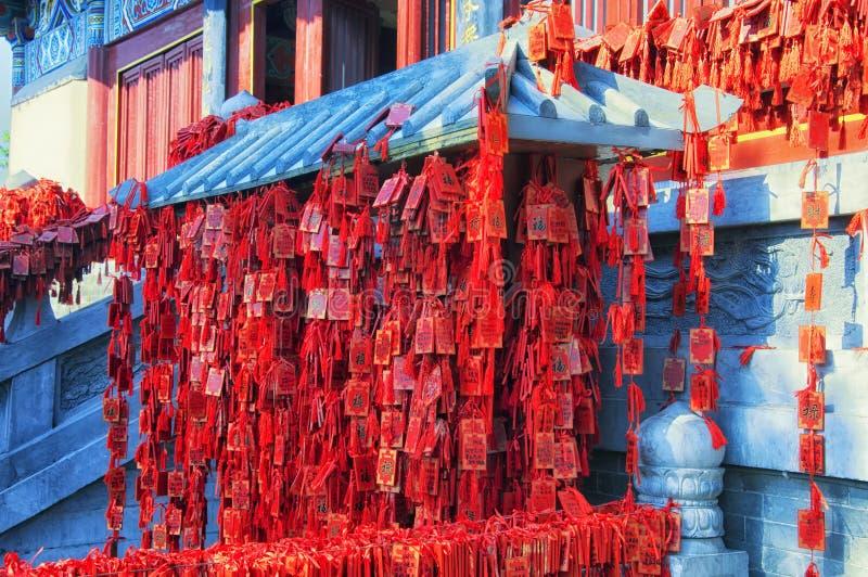 Xiangshan tempel för buddistiska bönförfråganplattor royaltyfri bild