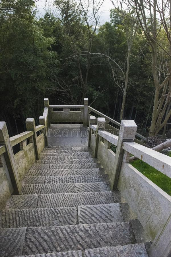 Xianshan湖风景点 图库摄影