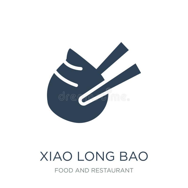 xiao bao długa ikona w modnym projekta stylu xiao bao długa ikona odizolowywająca na białym tle xiao długiego bao wektorowa ikona ilustracja wektor