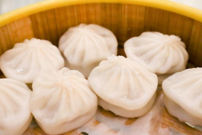 Xiao Long Bao in battered steam Is the local food of China Looks very delicious royalty free stock photo