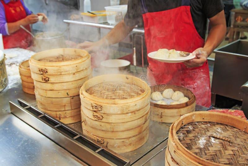Xiao Long Bao in Kaohsiung, Taiwan stock afbeeldingen