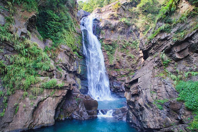 Xiao Wulai Waterfall Aerial Photography stock afbeeldingen