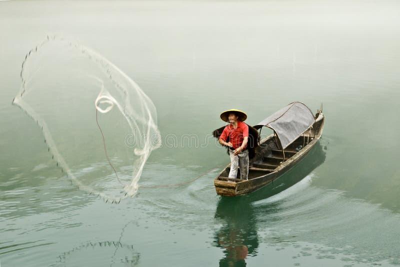 XiaoDongJiang visserij stock afbeeldingen