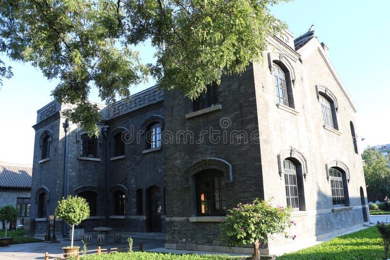 Xiaoqing Building de la mansión de Zhang del mariscal, China fotografía de archivo