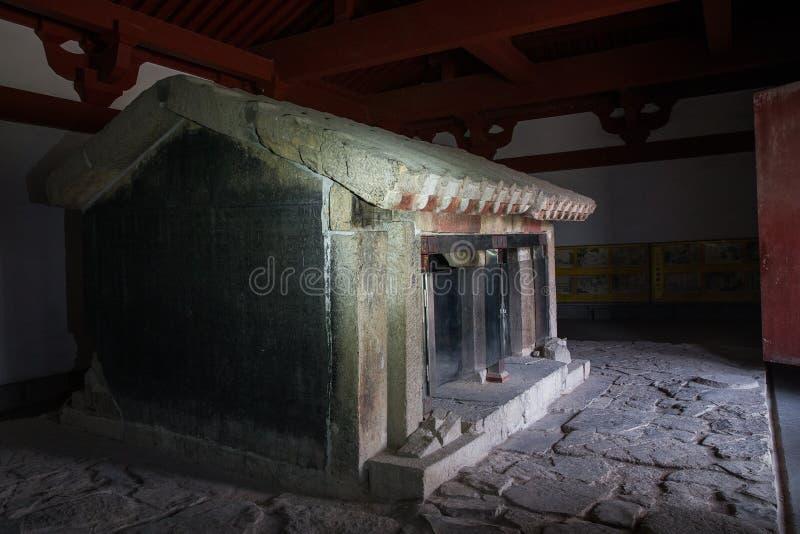 Xiaotangshan ancestralny dom, zachodnia Han dynastia obrazy stock