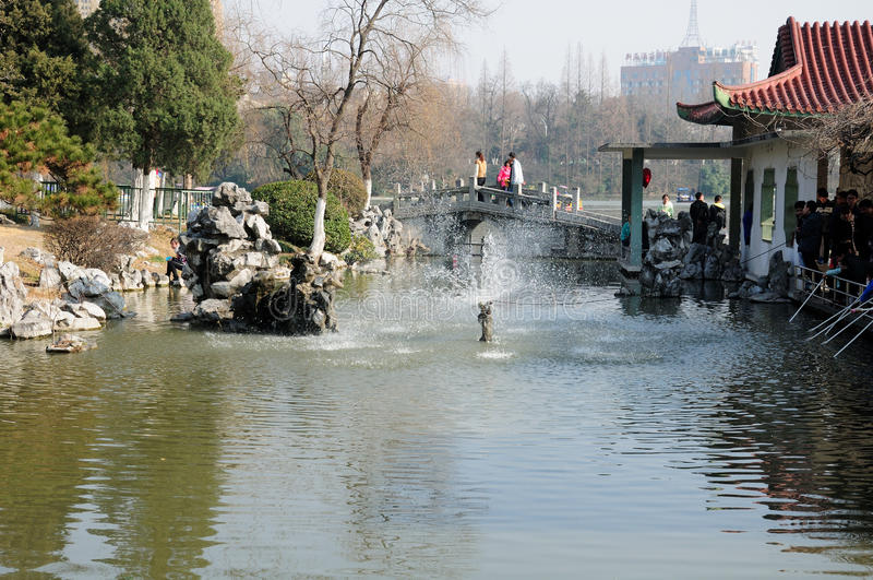 Xiaoyaojin公园合肥中国 免版税库存图片