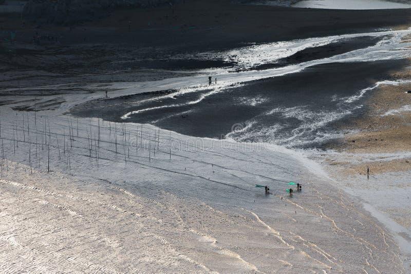 Xiapu, l'estran le plus bel de la Chine photos stock