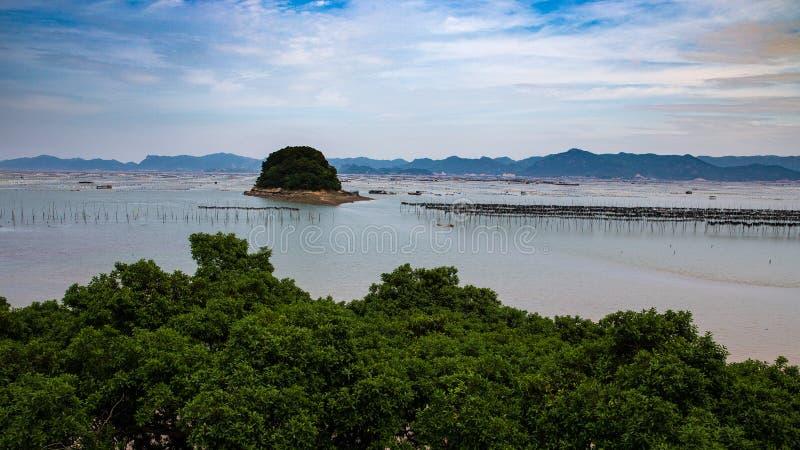 Xiapu, l'estran le plus bel de la Chine image libre de droits