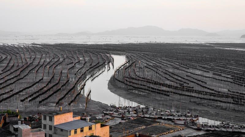 Xiapu, l'estran le plus bel de la Chine photographie stock