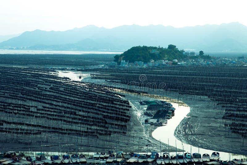 Xiapu, l'estran le plus bel de la Chine photos libres de droits