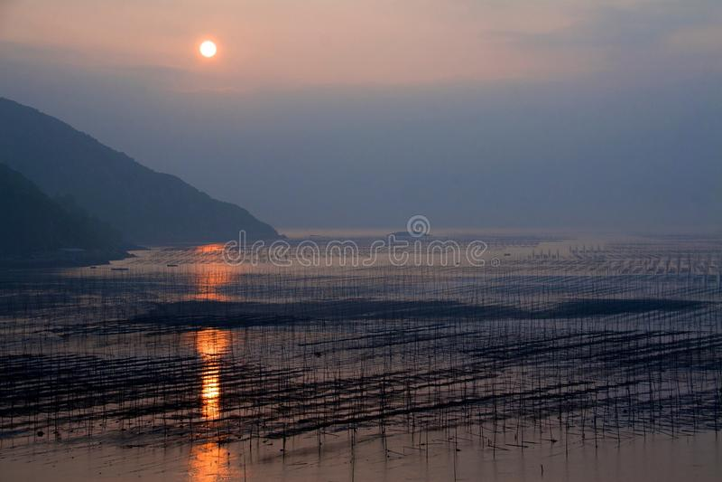 Xiapu wschód słońca zdjęcia royalty free