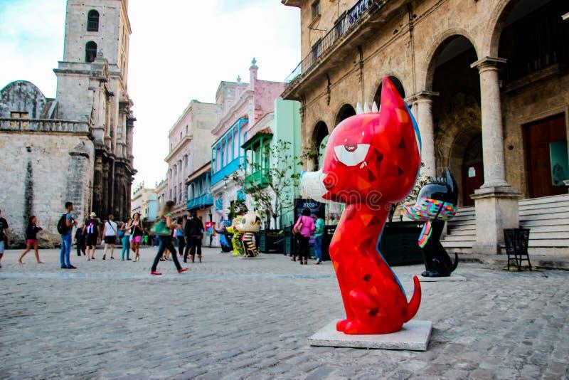Xico-Skulpturen auf San Francisco de Asis Square in Havana, Kuba lizenzfreie stockfotos