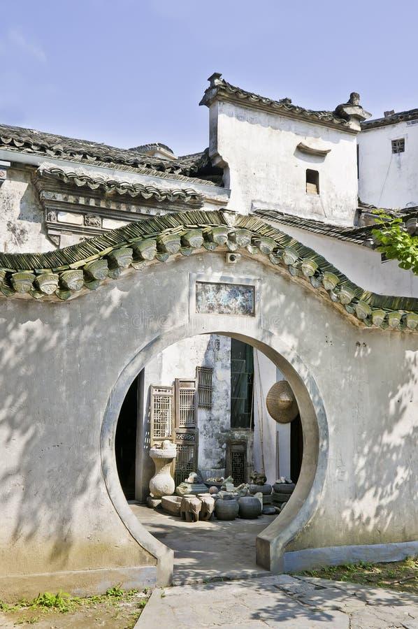 Xidi Cun - doorway royalty free stock image