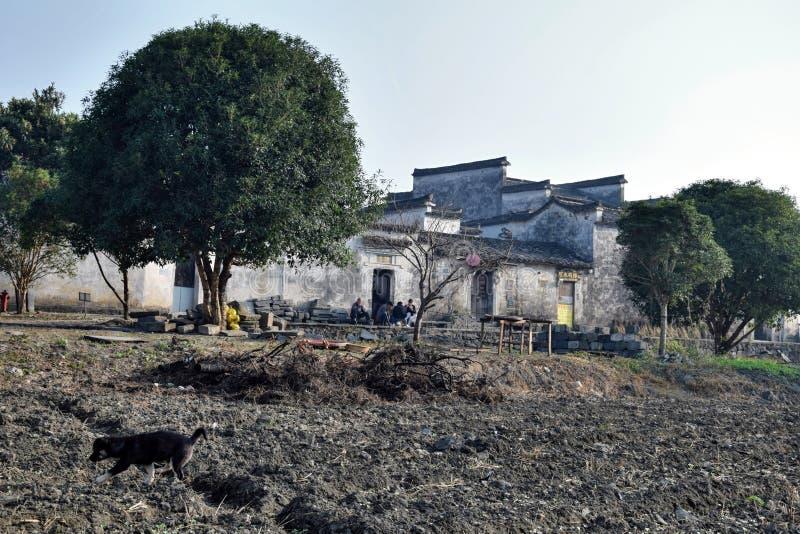 Xidi, mała antyczna wioska w prowincja anhui w Chiny blisko Żółtych gór zdjęcie royalty free