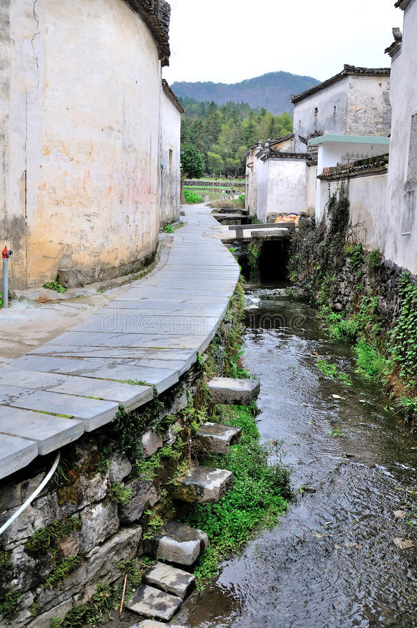 Xidi Village Lane royalty free stock photography