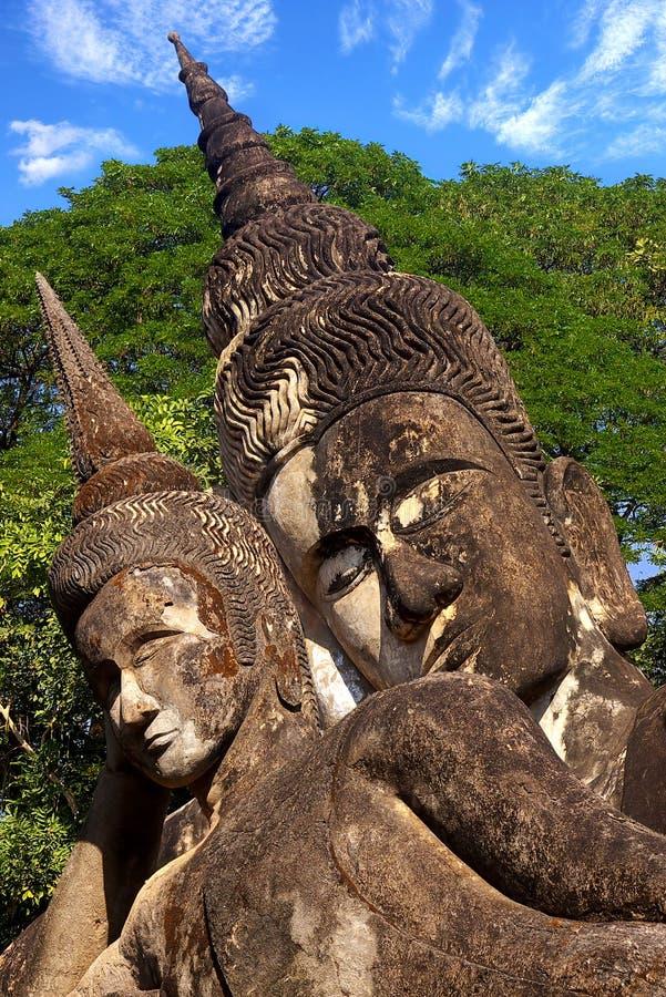 Xieng Khuan - sosta del buddha vicino a Vientiane. Il Laos fotografia stock libera da diritti