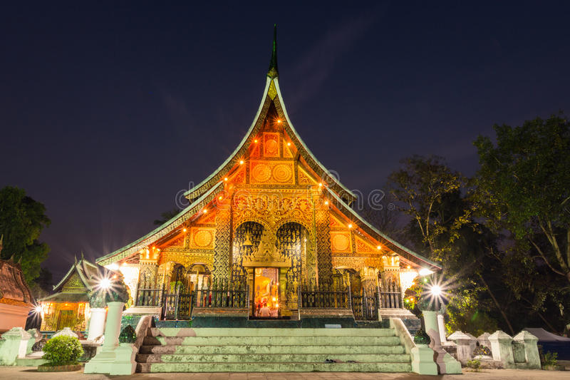 Xieng Thong temple royalty free stock image