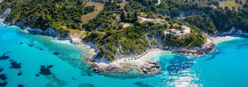 Xigia strand och kustlinjen på den Zakynthos ön, Grekland royaltyfria bilder